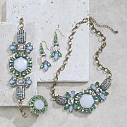 multicolored white stone jewelry