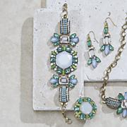 multicolored white stone bracelet