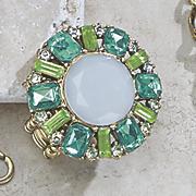 multicolored white stone stretch ring