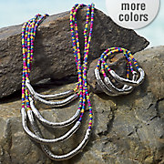 seed bead necklace bracelet set