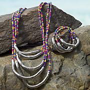 seed bead necklace bracelet set