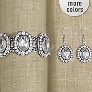 crystal bracelet earring set