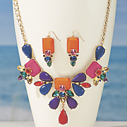 Multi-Color Necklace/Earring Set