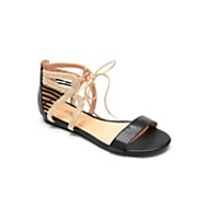 ankle lace up two tone sandal by midnight velvet