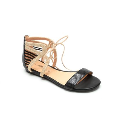Ankle Lace-Up Two-Tone Sandal by Midnight Velvet