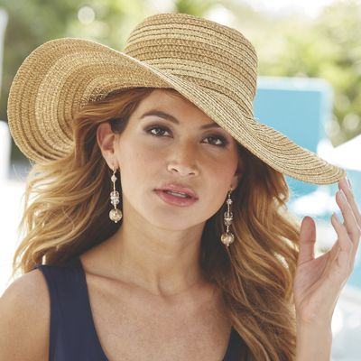 Metallic Gold Stripe Floppy Hat