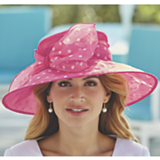 Polka Dot Wide Brim Hat