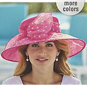 polka dot wide brim hat