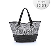 tribal straw tote bag