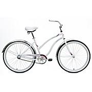 dahlia ladies  single speed beach cruiser bike by mantis