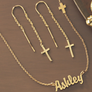 name cross necklace