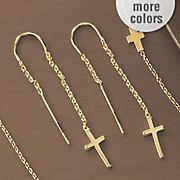 cross threader earrings