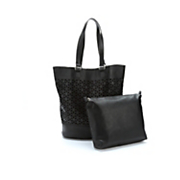 laser cut tote with organizer bag