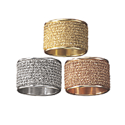 glitter wide band ring