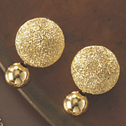 double ball glitter shiny earrings