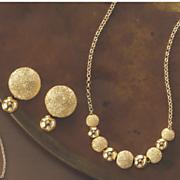 Double Ball Glitter Jewelry