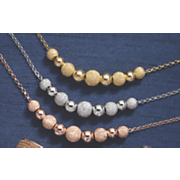 double ball glitter shiny necklace