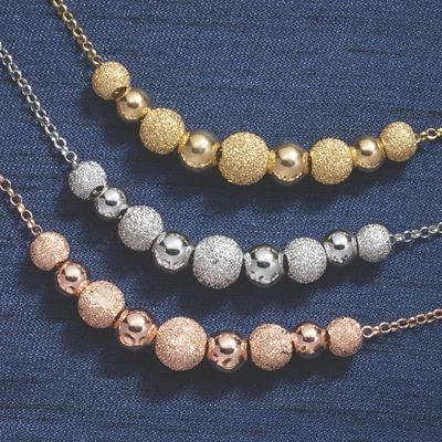 Double Ball Glitter/Shiny Necklace