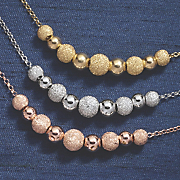 double ball glitter shiny necklace