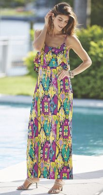 Nevaeh Tribal Print Maxi Dress