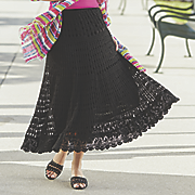 tiered crochet skirt 83
