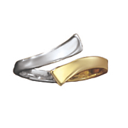 two tone toe ring