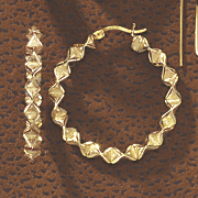 folded round hoops