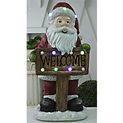 lighted musical welcome santa