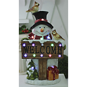 Lighted Musical Welcome Snowman