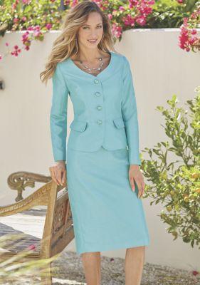 Amelia Pleat Detail Suit