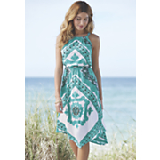 Celeste Scarf Print Dress