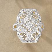 diamond vintage octagonal ring