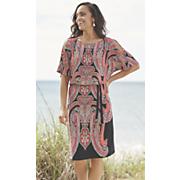 lehna paisley print dress