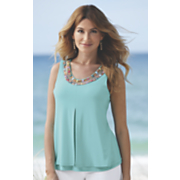 Adel Beaded Fly-Away Top