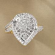 diamond pear cluster ring