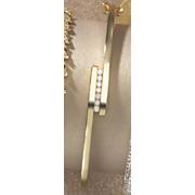 diamond bypass hinged bangle