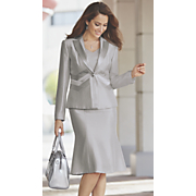 sleek silver suit 91