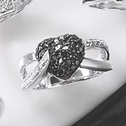 black diamond heart ring