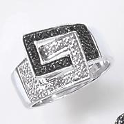 black diamond double buckle ring