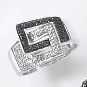black diamond double buckle ring