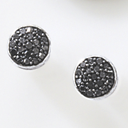 black diamond round cluster post earrings 82