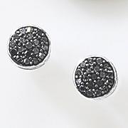 black diamond round cluster post earrings 82