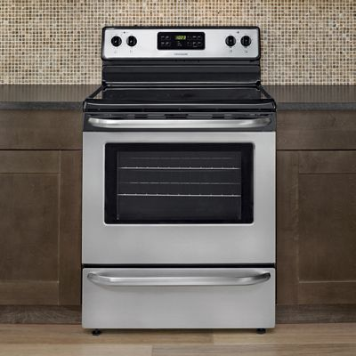 5 3 cu ft freestanding smooth top electric range by for Frigidaire armoire