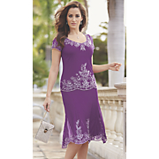 Elegant Purple Tiered Dress
