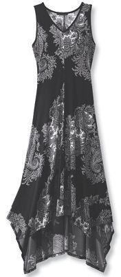 Black & White Paisley Dress