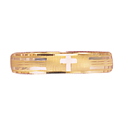 14k gold two tone cross band