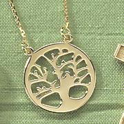 tree of life round pendant