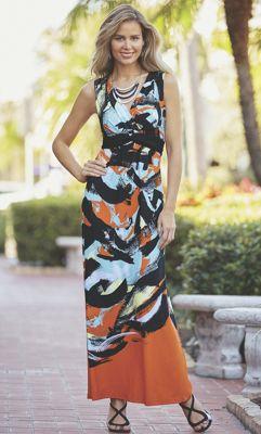Abstract Swipe Dress