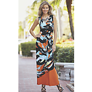 Abstract Swipe Dress