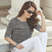 melange sequin sweater